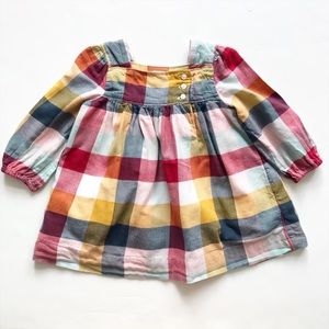 Babygap buffalo plaid dress EUC 12-18 months